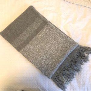 Gray plush scarf